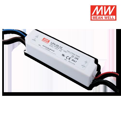 alimentatore led meanwell per esterni ip67 35w 12v