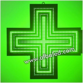 croce luminosa a led verde programmabile