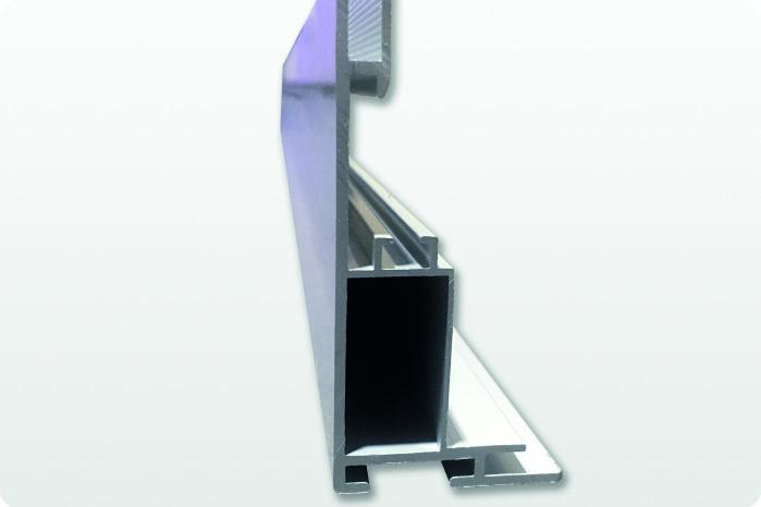 profilo in alluminio per teli luminosi con scanalatura per bordino in silicone