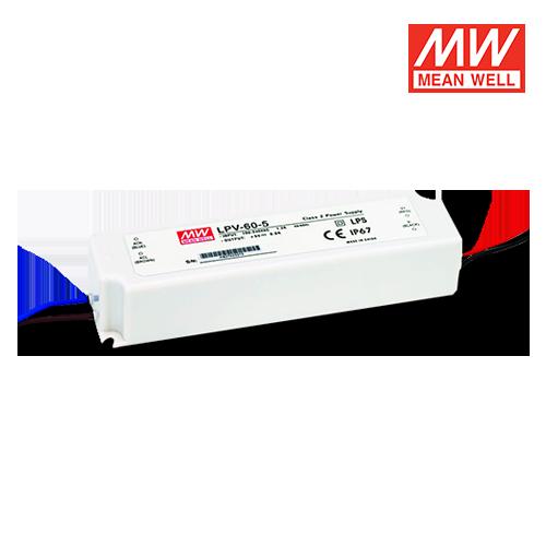 trasformatore led per esterni ip67 meanwell 60w 5v