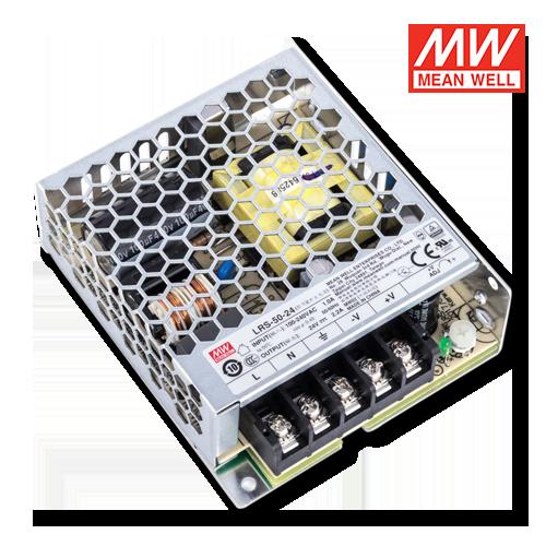 alimentatori per led uso interno meanwell 50w 24v